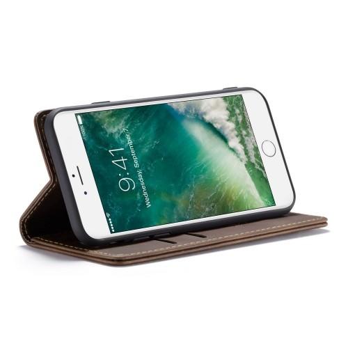 CaseMe Book Case iPhone 8 / 7 Hoesje - Donkerbruin