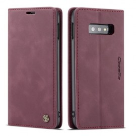 CaseMe Book Case Samsung Galaxy S10e Hoesje - Bordeaux