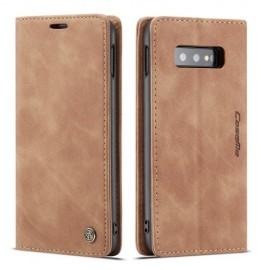 CaseMe Book Case Samsung Galaxy S10e Hoesje - Bruin