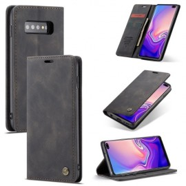 CaseMe Book Case Samsung Galaxy S10 Plus Hoesje - Zwart