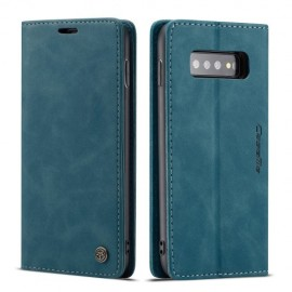CaseMe Book Case Samsung Galaxy S10 Plus Hoesje - Blauw