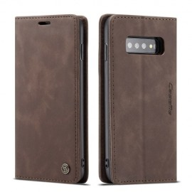 CaseMe Book Case Samsung Galaxy S10 Plus Hoesje - Donkerbruin