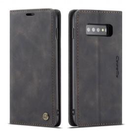 CaseMe Book Case Samsung Galaxy S10 Hoesje - Zwart