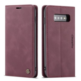 CaseMe Book Case Samsung Galaxy S10 Hoesje - Bordeaux