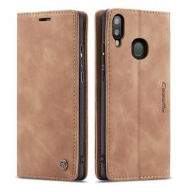 CaseMe Book Case Samsung Galaxy A40 Hoesje - Bruin