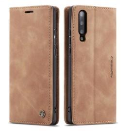 CaseMe Book Case Samsung Galaxy A70 Hoesje - Bruin