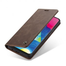 CaseMe Book Case Samsung Galaxy A10 Hoesje - Donkerbruin