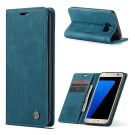 CaseMe Book Case Samsung Galaxy S7 edge Hoesje - Blauw