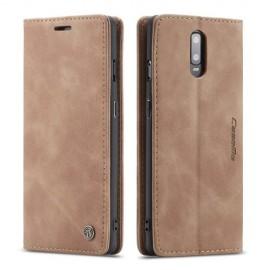 CaseMe Book Case OnePlus 7 Hoesje - Bruin