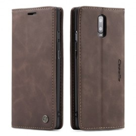 CaseMe Book Case OnePlus 7 Hoesje - Donkerbruin