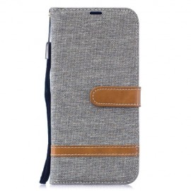 Denim Book Case Xiaomi Redmi Note 7 Hoesje - Grijs