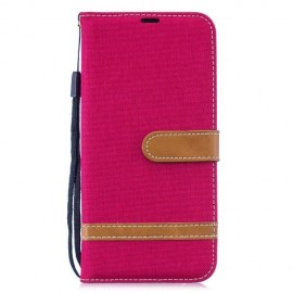 Denim Book Case Xiaomi Redmi Note 7 Hoesje - Rood
