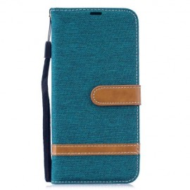 Denim Book Case Xiaomi Redmi Note 7 Hoesje - Groen