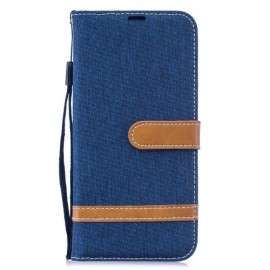 Denim Book Case Xiaomi Redmi Note 7 Hoesje - Blauw