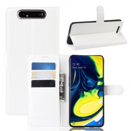 Book Case Samsung Galaxy A80 Hoesje - Wit