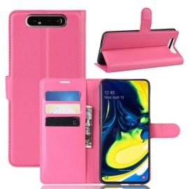 Book Case Samsung Galaxy A80 Hoesje - Roze