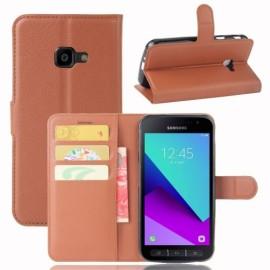 Book Case Samsung Galaxy Xcover 4s / 4 Hoesje - Bruin