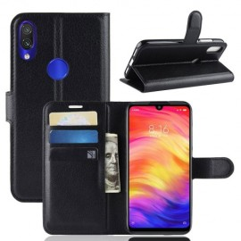 Book Case Xiaomi Redmi Note 7 Hoesje - Zwart