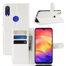 Book Case Xiaomi Redmi Note 7 Hoesje - Wit