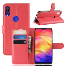 Book Case Xiaomi Redmi Note 7 Hoesje - Rood