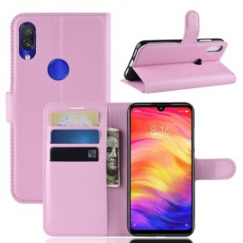 Book Case Xiaomi Redmi Note 7 Hoesje - Pink