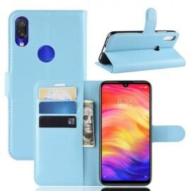 Book Case Xiaomi Redmi Note 7 Hoesje - Lichtblauw