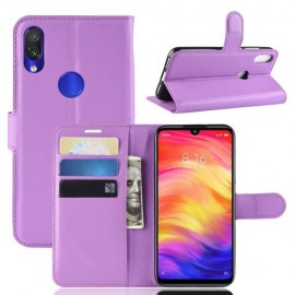 Book Case Xiaomi Redmi Note 7 Hoesje - Paars