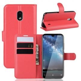 Book Case Nokia 2.2 Hoesje - Rood