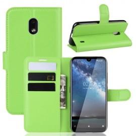 Book Case Nokia 2.2 Hoesje - Groen