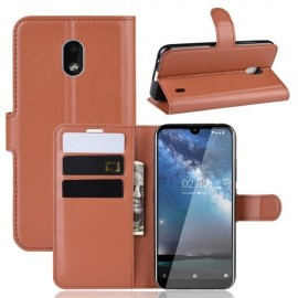 Book Case Nokia 2.2 Hoesje - Bruin