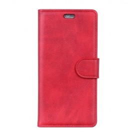 Luxe Book Case Motorola One Vision Hoesje - Rood