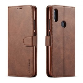 Luxe Book Case Xiaomi Redmi Note 7 Hoesje - Donkerbruin