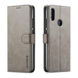 Luxe Book Case Xiaomi Redmi Note 7 Hoesje - Grijs