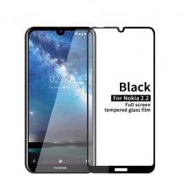 Full-Cover Tempered Glass Nokia 2.2 - Zwart