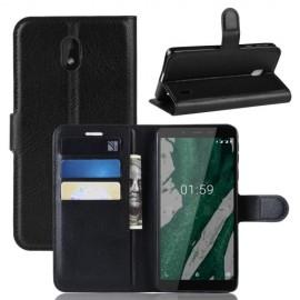 Book Case Nokia 1 Plus Hoesje - Zwart