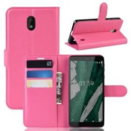 Book Case Nokia 1 Plus Hoesje - Roze