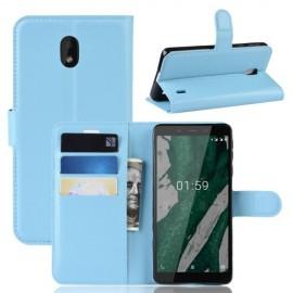 Book Case Nokia 1 Plus Hoesje - Lichtblauw