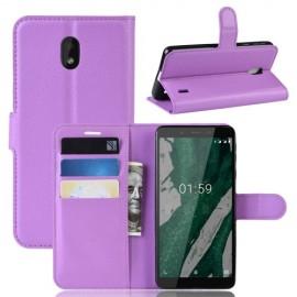 Book Case Nokia 1 Plus Hoesje - Paars