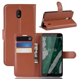 Book Case Nokia 1 Plus Hoesje - Bruin