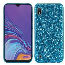 Glitter TPU Samsung Galaxy A10 Hoesje - Blauw