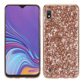 Glitter TPU Samsung Galaxy A10 Hoesje - Rose Gold