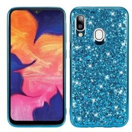 Glitter TPU Samsung Galaxy A20e Hoesje - Blauw