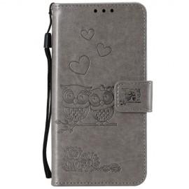 Uilen Book Case Xiaomi Mi A3 Hoesje - Grijs