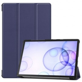 Smart Book Case Samsung Galaxy Tab S6 Hoesje - Donkerblauw