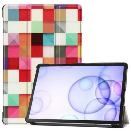 Smart Book Case Samsung Galaxy Tab S6 Hoesje - Colour Squares