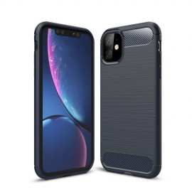 Armor Brushed TPU iPhone 11 Hoesje - Blauw