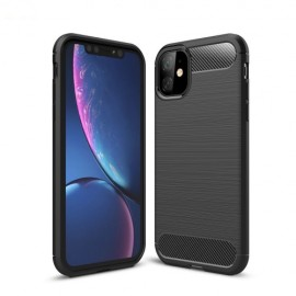 Armor Brushed TPU iPhone 11 Hoesje - Zwart