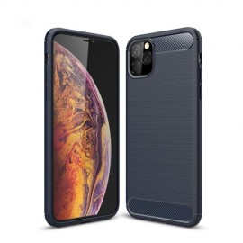 Armor Brushed TPU iPhone 11 Pro Max Hoesje - Blauw