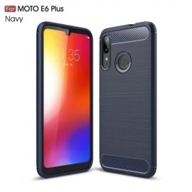 Armor Brushed TPU Motorola Moto E6 Plus Hoesje - Blauw