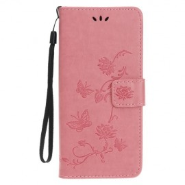 Bloemen Book Case iPhone 11 Pro Hoesje - Pink